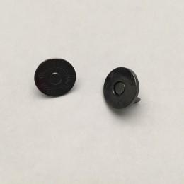 Кнопка магнит 14мм тонкая Турция темный никель (200 штук)