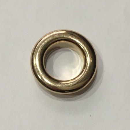 Люверс круглый 14мм №28 нержавейка золото (1000 штук)
