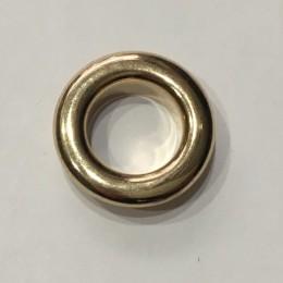 Люверс круглый 15мм №30 нержавейка золото (1000 штук)