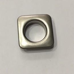 Люверс квадрат 11мм №26 нержавейка матовый никель (1000 штук)