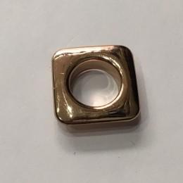 Люверс квадрат 11мм №26 нержавейка золото (1000 штук)