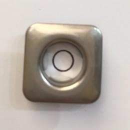 Люверс квадрат 14мм №28 нержавейка матовый никель (1000 штук)