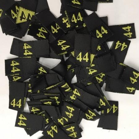 Размер жаккардовый 44 10мм черный желтый (100 штук)