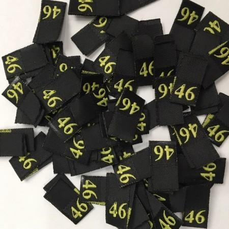 Размер жаккардовый 46 10мм черный желтый (100 штук)