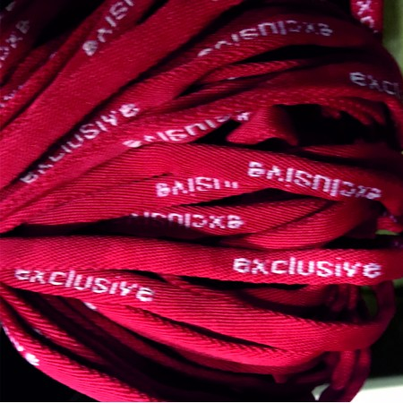 Шнур круглый с логотипом exlusive 7мм красный (пара)