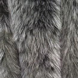 Опушка из натурального меха песец 70см двойная ширина 11см синий (Штука)