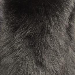 Опушка из натурального меха песец 70см двойная ширина 11см черный (Штука)