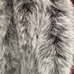 Опушка из натурального меха песец 70см двойная ширина 11см чбк (Штука)