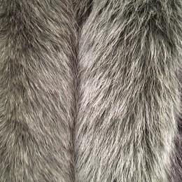 Опушка из натурального меха песец 70см двойная ширина 11см хаки (Штука)