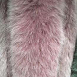 Опушка из натурального меха песец 70см двойная ширина 11см пудра (Штука)