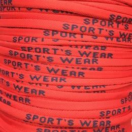 Шнур круглый с логотипом Sport Wear 6мм красный синий (пара)