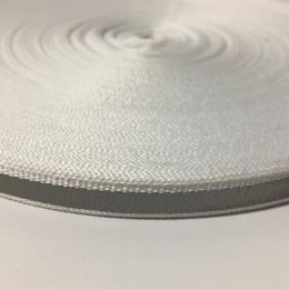 Тесьма светоотражающая 1см белый (50 метров)