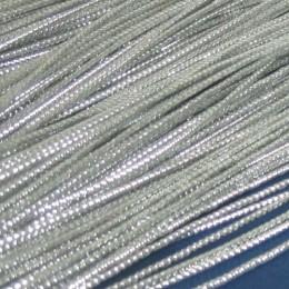 Шнур люрекс 1мм серебро (1000 метров)