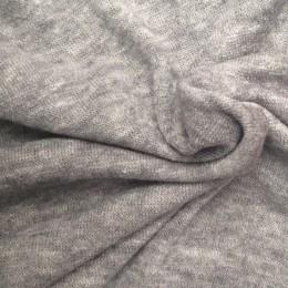 Ткань трикотаж ангора арктика меланж светло серый (метр )