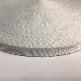 Тесьма репсовая производство 10мм белая серебро елка (50 метров)