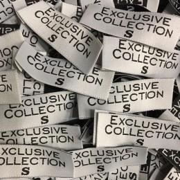 Этикетка жаккардовая вышитая Exclusive Collection 20мм S (1000 штук)