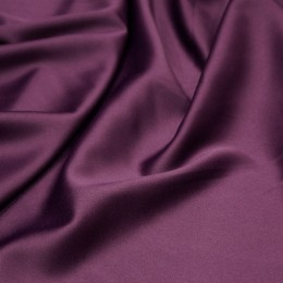 Ткань атлас королевский стрейч баклажан (метр )