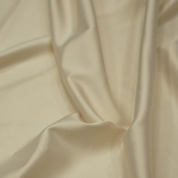 Ткань атлас королевский стрейч молочный (метр )