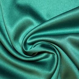 Ткань атлас королевский стрейч зеленая бирюза (метр )