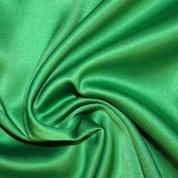 Ткань атлас королевский стрейч трава (метр )