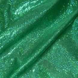 Ткань бифлекс голограмма точка трава (метр )