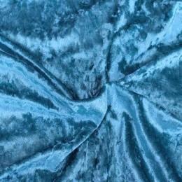 Ткань бархат мрамор голубой (метр )