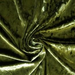 Ткань бархат мрамор хаки (метр )