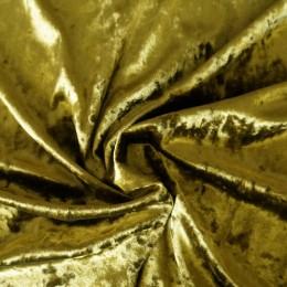 Ткань бархат мрамор горчица (метр )