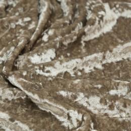 Ткань бархат мрамор бежевый (метр )