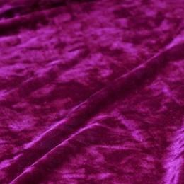Ткань бархат мрамор малина (метр )