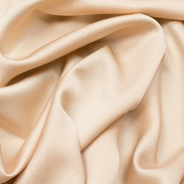 Ткань креп-сатин кремовый (метр )