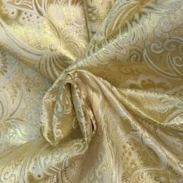 Ткань парча жаккард золото (метр )
