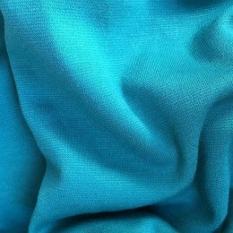 Ткань трикотаж французский голубая бирюза (метр )