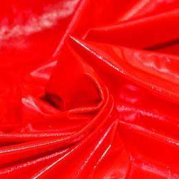 Ткань лак тонкий красный (метр )