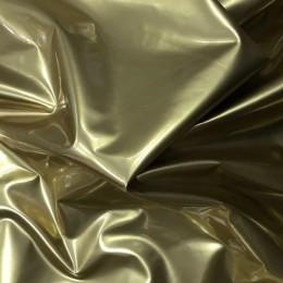 Ткань лак стрейч (латекс) золото (метр )
