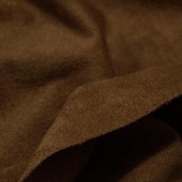 Ткань замша стрейч коричневый (метр )