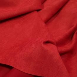 Ткань замша на дайвинге красная  (метр )