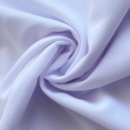 Ткань креп-шифон белый с голубизной (метр )