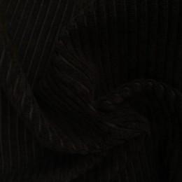 Ткань вельвет крупный черный (метр )