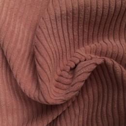Ткань вельвет крупный пудра (метр )