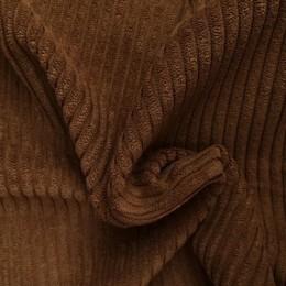 Ткань вельвет крупный темно бежевый (верблюжий) (метр )