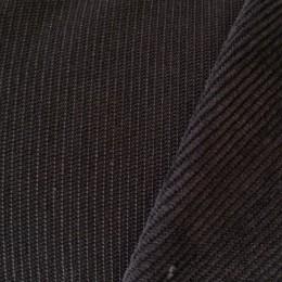 Ткань вельвет мелкий темно серый (метр )
