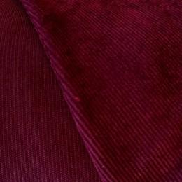 Ткань вельвет мелкий бордо (метр )