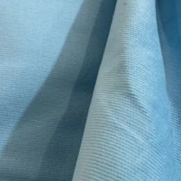 Ткань вельвет мелкий голубой (метр )