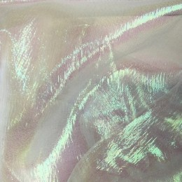 Ткань органза хамелеон белая (метр )