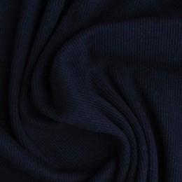Ткань довяз рибана кашкорсе темно синий (метр )
