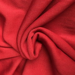 Ткань довяз рибана кашкорсе красный (метр )