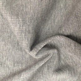 Ткань довяз рибана трикотаж светло серый меланж (метр )