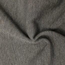 Ткань довяз рибана трикотаж серый меланж (метр )