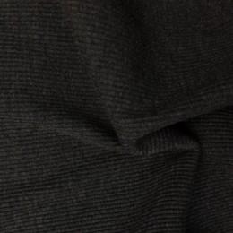 Ткань довяз рибана трикотаж темно серый меланж (метр )